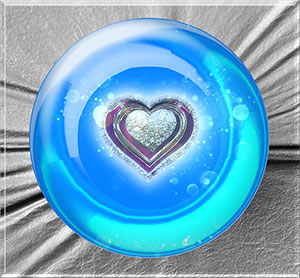 The crystal ball heart