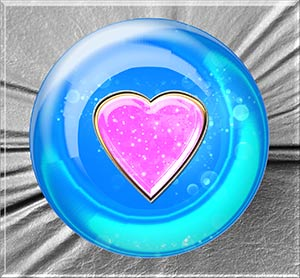 The crystal ball heart again